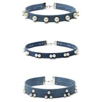 Mode-Halskette, Oxford, mit Glasperlen & Zinklegierung, mit Verlängerungskettchen von 2.7lnch, Platinfarbe platiniert, für Frau, frei von Nickel, Blei & Kadmium, Länge:ca. 11.8 ZollInch, 3SträngeStrang/setzen, verkauft von setzen