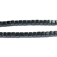 Natürliche schwarze Achat Perlen, Schwarzer Achat, Würfel, verschiedene Größen vorhanden, Bohrung:ca. 0.5-1.5mm, Länge:ca. 15.5 ZollInch, verkauft von Menge