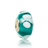 Lampwork Perlen European Stil, Rondell, handgemacht, Messing-Dual-Core ohne troll & großes Loch, 7x13mm, Bohrung:ca. 5mm, verkauft von PC