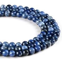 Sodalith Perlen, Sosalith, rund, verschiedene Größen vorhanden, Bohrung:ca. 1mm, verkauft per ca. 15 ZollInch Strang