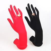 Harz Fingerringständer, Hand, mit Samt überzogen, keine, 150x90x220mm, 5PCs/Menge, verkauft von Menge