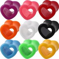 Art und Weise Piercing Tunnel, Acryl, Herz, verschiedene Größen vorhanden & für Frau, keine, 2PCs/Menge, verkauft von Menge