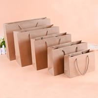 Mode Geschenkbeutel, Papier, mit Nylonschnur, Rechteck, verschiedene Größen vorhanden, Kaffeefarbe, 100PCs/Menge, verkauft von Menge