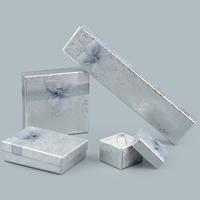 Karton Schmuckset Kasten, mit Kleber Film & Gaze, verschiedene Stile für Wahl, keine, verkauft von Menge