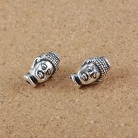 Buddhistische Perlen, Zinklegierung, Buddha, antik silberfarben plattiert, frei von Nickel, Blei & Kadmium, 9x14x8mm, Bohrung:ca. 1.5mm, 50PCs/Menge, verkauft von Menge