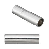 Edelstahl Bajonettverschluss, Zylinder, originale Farbe, 17x5mm, Bohrung:ca. 4mm, verkauft von PC