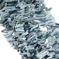 Natürliche gefärbten Quarz Perlen, Natürlicher Quarz, facettierte, dunkelgrün, 15-50x6-11x3-6mm, Bohrung:ca. 1mm, ca. 78PCs/Strang, verkauft per ca. 16 ZollInch Strang