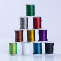 Stahldraht, mit Kunststoffspule, plattiert, mit Bemaltung, gemischte Farben, 0.45mm, 10PCs/Menge, ca. 10m/PC, verkauft von Menge