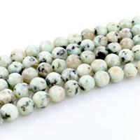 Amazonit Perlen, rund, natürlich, verschiedene Größen vorhanden, Bohrung:ca. 1mm, verkauft per ca. 15 ZollInch Strang