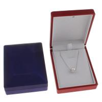 Baumwollsamt Halskettenkasten, Karton, mit Baumwollsamt, Rechteck, keine, 69x89x35mm, verkauft von PC