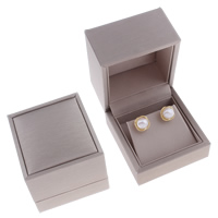 Karton Ohrring Kasten, Rechteck, grau, 60x65x53mm, verkauft von PC