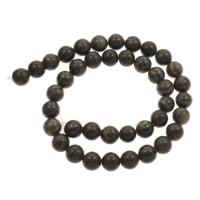 Grain Stein Perle, rund, verschiedene Größen vorhanden, schwarz, Bohrung:ca. 1mm, verkauft per ca. 15 ZollInch Strang