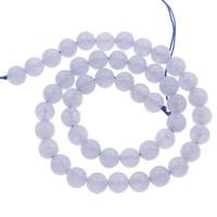 Natürliche violette Achat Perlen, Violetter Achat, rund, verschiedene Größen vorhanden, Bohrung:ca. 1mm, verkauft per ca. 15 ZollInch Strang