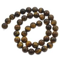 Tigerauge Perle, rund, verschiedene Größen vorhanden, Bohrung:ca. 1mm, verkauft per ca. 15 ZollInch Strang
