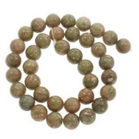 Unakite Perle, rund, aus China & verschiedene Größen vorhanden, Bohrung:ca. 1mm, verkauft per ca. 15 ZollInch Strang