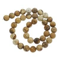 Bild Jaspis Perlen, rund, verschiedene Größen vorhanden, Bohrung:ca. 1mm, verkauft per ca. 15 ZollInch Strang