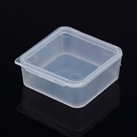 Schmuck Nagelkasten, Polypropylen, Quadrat, 39x39x16mm, 1000PCs/Menge, verkauft von Menge