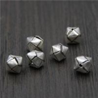925 Sterlingsilber European Perlen, 925 Sterling Silber, Würfel, 10x10x10mm, Bohrung:ca. 1.2mm, 5PCs/Menge, verkauft von Menge