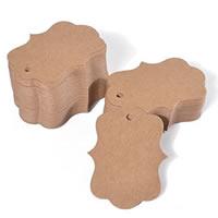 Kraftpapier Label- Tag, 50x70mm, 100PCs/Tasche, verkauft von Tasche