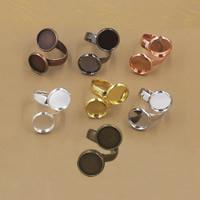 Messing Ringschiene, flache Runde, plattiert, olika innerdiameter, för val, keine, frei von Nickel, Blei & Kadmium, 10-12mm, Größe:6-9, 20PCs/Tasche, verkauft von Tasche