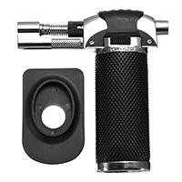 Zinklegierung Feuerzeug, mit PVC Kunststoff, schwarz, 100x108x27mm, 42x65x8mm, verkauft von PC