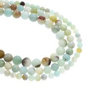 Amazonit Perlen, rund, natürlich, verschiedene Größen vorhanden, Bohrung:ca. 1mm, verkauft per ca. 15.5 ZollInch Strang