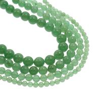Grüner Aventurin Perle, rund, verschiedene Größen vorhanden, Bohrung:ca. 1mm, verkauft per ca. 15.5 ZollInch Strang