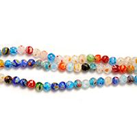 Millefiori Scheibe Lampwork Perlen, mit Millefiori Scheibe & gemischt, 6mm, Bohrung:ca. 1mm, Länge:ca. 14.5 ZollInch, 9SträngeStrang/Menge, ca. 65PCs/Strang, verkauft von Menge