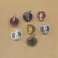 Manschettenknöpfe-Ergebnisse, Messing, flache Runde, plattiert, olika innerdiameter, för val, keine, frei von Nickel, Blei & Kadmium, 12-20mm, 50PCs/Tasche, verkauft von Tasche