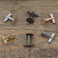 Manschettenknöpfe-Ergebnisse, Messing, flache Runde, plattiert, olika innerdiameter, för val, keine, frei von Nickel, Blei & Kadmium, 6-12mm, 20PCs/Tasche, verkauft von Tasche