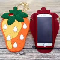 Kundenindividuelle Handyhülle, Silikon, Erdbeere, verschiedene Stile für Wahl, keine, verkauft von PC