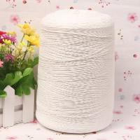 Polyester und Baumwolle Nichtelastisches Garn, 3 Fach Garn, weiß, 1mm, Länge:ca. 3000 m, verkauft von PC