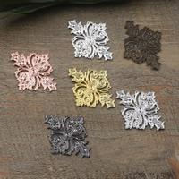 Messing Cabochon, Rhombus, plattiert, keine, frei von Nickel, Blei & Kadmium, 23x30mm, 100PCs/Tasche, verkauft von Tasche