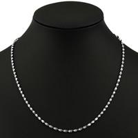 Messingkette Halskette, Messing, silberfarben plattiert, Schlangekette, frei von Nickel, Blei & Kadmium, 2mm, verkauft per ca. 17 ZollInch Strang