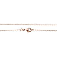 Messingkette Halskette, Messing, echtes Rósegold plattiert, Hohe Qualität überzogen und verblassen nie & Oval-Kette, frei von Nickel, Blei & Kadmium, 1.50x1x0.10mm, Länge:ca. 18 ZollInch, 10SträngeStrang/Menge, verkauft von Menge