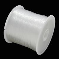 Kristall Faden, mit Kunststoffspule, klar, 0.45mm, 25PCs/Tasche, ca. 30m/PC, verkauft von Tasche