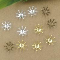 Messing Perlenkappe, Blume, plattiert, keine, frei von Nickel, Blei & Kadmium, 10mm, Bohrung:ca. 1.5mm, 400PCs/Tasche, verkauft von Tasche