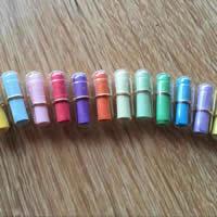 Gelatine Liebe Pille, mit Papier, gemischte Farben, 20x6mm, ca. 100PCs/Tasche, verkauft von Tasche