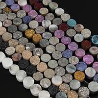 Natürliche Eis Quarz Achat Perlen, Eisquarz Achat, Rondell, keine, 7-10x6-10x4.5-6.5mm, Bohrung:ca. 1-3mm, Länge:ca. 8 ZollInch, 5SträngeStrang/Menge, ca. 20PCs/Strang, verkauft von Menge