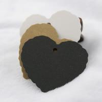 Kraftpapier Label- Tag, Herz, gemischte Farben, 55x55mm, 150PCs/Menge, verkauft von Menge