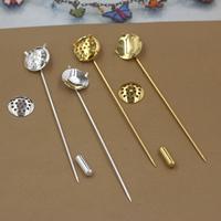 Messing Brosche Zubehör, plattiert, keine, frei von Nickel, Blei & Kadmium, 50x1mm, Innendurchmesser:ca. 12mm, 20PCs/Tasche, verkauft von Tasche