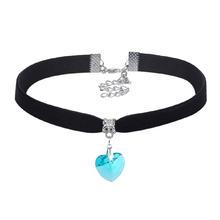 Mode-Halskette, Stoff, mit Zinklegierung & Acryl, mit Verlängerungskettchen von 10cm, 320mm, verkauft per ca. 12.5 ZollInch Strang