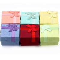 Karton Ring Kasten, mit Satinband, Quadrat, keine, 41x30mm, 24PCs/Tasche, verkauft von Tasche