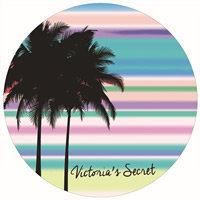 Mode Bad Strandtuch, Polyester, flache Runde, Kunstdruck, farbenfroh, 150cm, verkauft von Strang