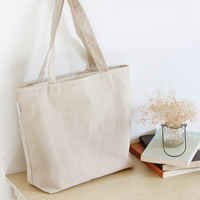 Einkaufstasche, Baumwollgewebe, Rechteck, 440x320x100mm, verkauft von PC