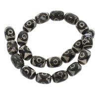Natürliche Tibetan Achat Dzi Perlen, Trommel, 13x17mm, Bohrung:ca. 1mm, ca. 21PCs/Strang, verkauft per ca. 14.5 ZollInch Strang