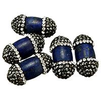 natürlicher Lapislazuli Perle, mit Ton, gemischt, 11-16x22-27x11-16mm, Bohrung:ca. 1mm, 10PCs/Menge, verkauft von Menge