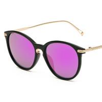 Art- und WeiseSonnenbrillen , PC Kunststoff, mit PC Kunststofflinse & Zinklegierung, goldfarben plattiert, unisex, keine, 142x51x145mm, verkauft von PC