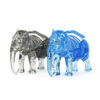 Kunststoff Ziegelstein-Spielzeug, Elephant, keine, 100x72x30mm, 3PCs/Tasche, verkauft von Tasche