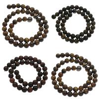 Tigerauge Perlen, rund, verschiedene Größen vorhanden, keine, Bohrung:ca. 1mm, verkauft per ca. 14.5 ZollInch Strang